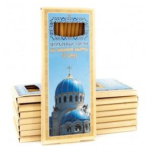 Свечи восковые для домашней молитвы (Молитва - Отче наш. Голубые купола)