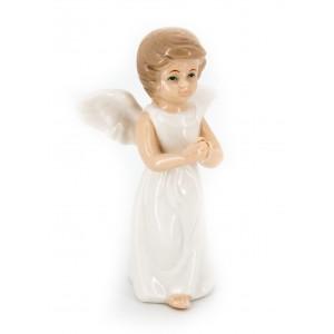 Ангел фарфоровый декоративный (в белом платье)